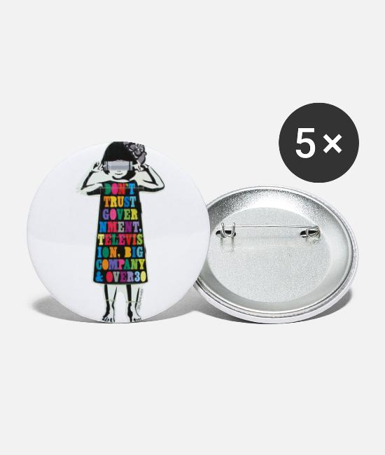 "Artsy Buttons - Skepticism & scruples | ""Don't trust .."" - Small Buttons white"