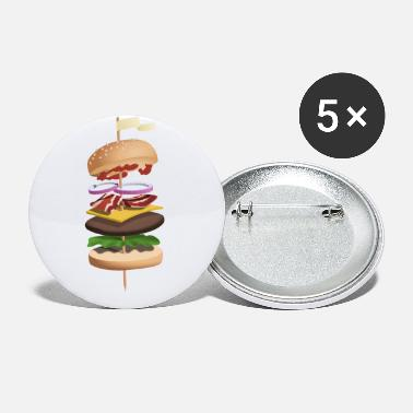 Food Collection Burger illustration - Small Buttons