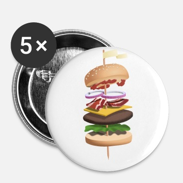 Food Collection Burger illustration - Buttons small 25 mm