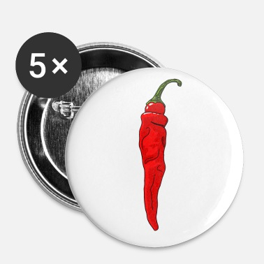 Calore Chili Pepper Hot Chilli Peppers Spicy Food - Spilla piccola 25 mm
