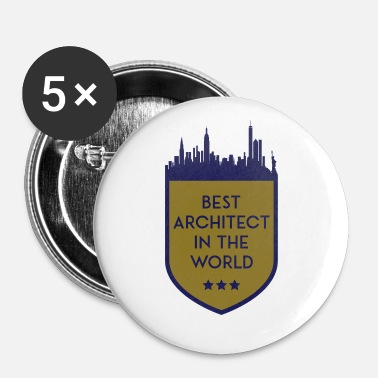Shield MEILLEUR ARCHITECT DANS LE MONDE SHIELD - Badge petit 25 mm