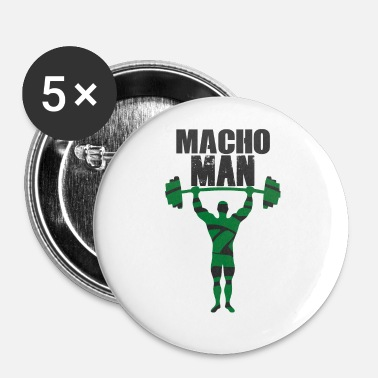 Macho Macho Man - Små knappar 25 mm