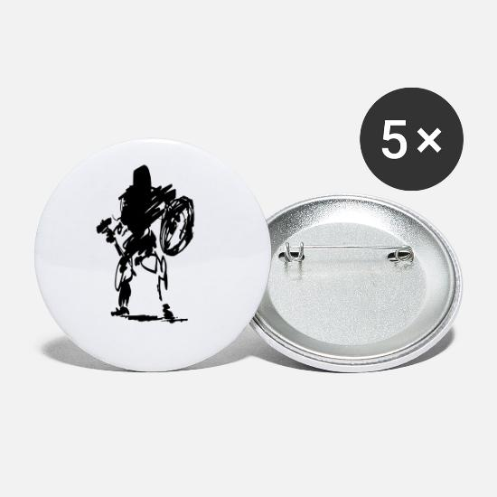 Hache Badges - nain - Petits badges blanc