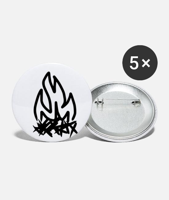 Bbq Buttons - campfire - Small Buttons white