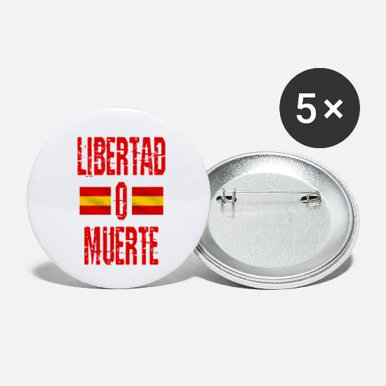 Spanish Buttons - Libertad o Muerte - Small Buttons white