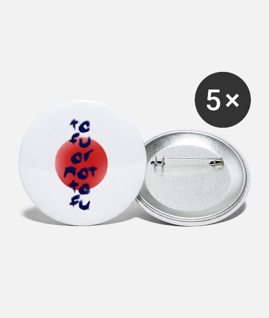 Art Buttons - Tofu or Not Tofu - Small Buttons white