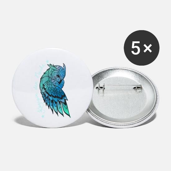 Owl Buttons - Owl Night - Small Buttons white