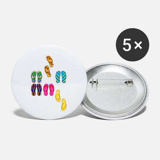 Travel Buttons - FLIP FLOPS outliers - Small Buttons white