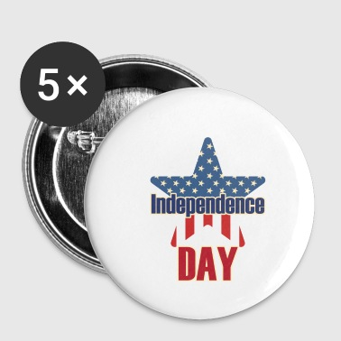 Independence Day 4 juillet USA - Badge petit 25 mm