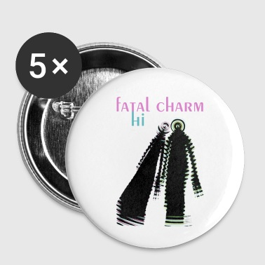 fatal charm - hi album cover art - Buttons small 25 mm
