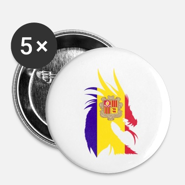 Bandera Andorra drage flag - Buttons/Badges lille, 25 mm