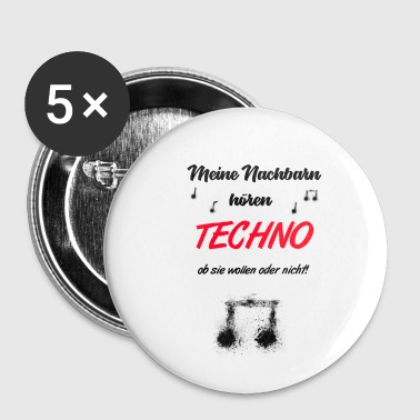 Techno - Buttons klein 25 mm