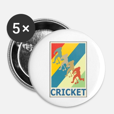 Softboll Retro Vintage Style Cricket Player Sport - Små knappar 25 mm