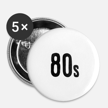 80s 80s - Buttons klein 25 mm