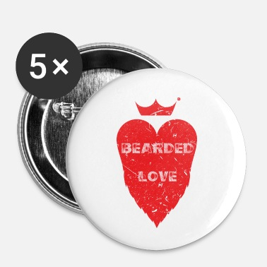Occasion BEARDED LOVE Look d'occasion - Badge petit 25 mm