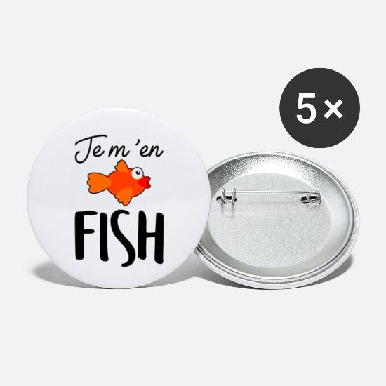 Humoristique Badges - Je m'en FISH - Petits badges blanc