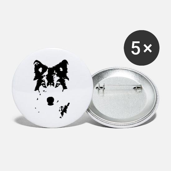 Boss Buttons - wolf - Small Buttons white