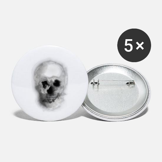 Skull And Bones Buttons - skull - Small Buttons white