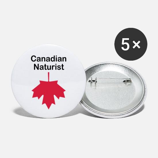 Hairy Buttons - Canadian Naturist - Small Buttons white