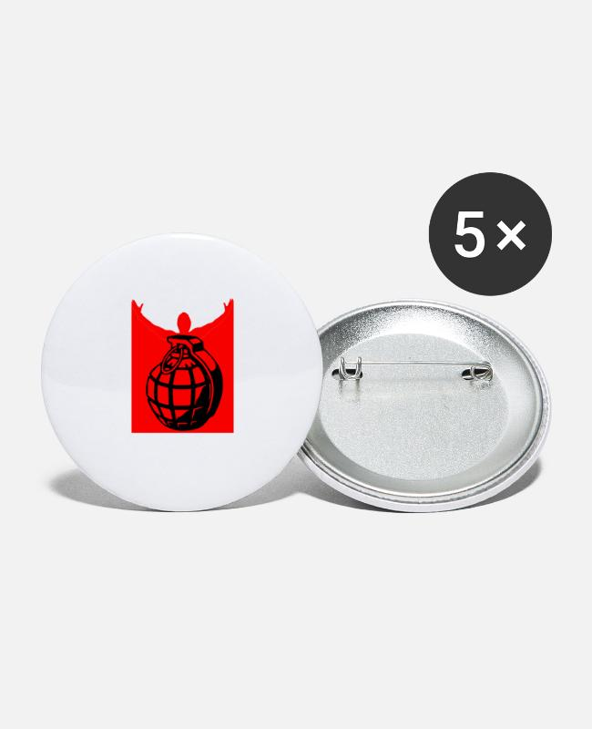 Red Buttons - HANDGRANTS GRANATE VIOLENT RED - Small Buttons white
