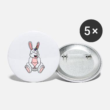 Mythical Cheerful Mythical Rabbit - Small Buttons