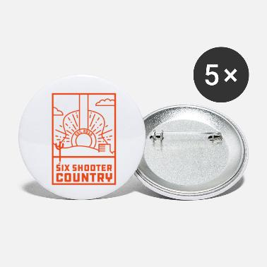 Country Six Shooter Red Logo - Small Buttons