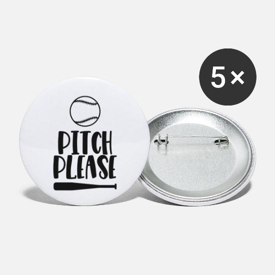 Batting Helmet Buttons - pitch please - Small Buttons white
