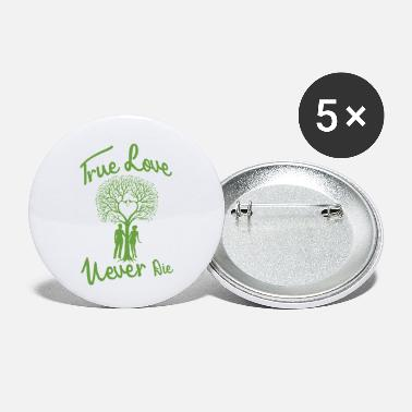 Braut True love never die - Buttons klein
