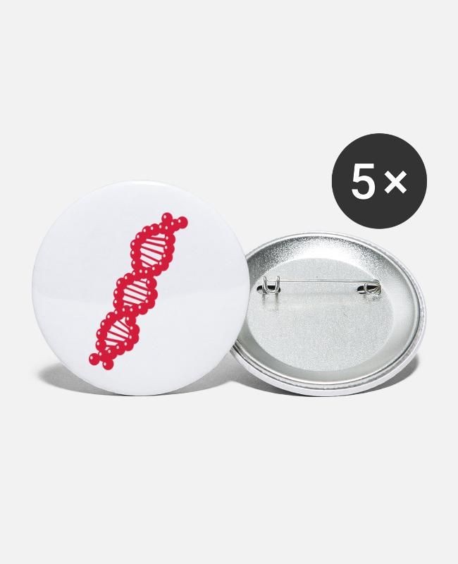 Atoom Buttons - DNA - Buttons klein wit