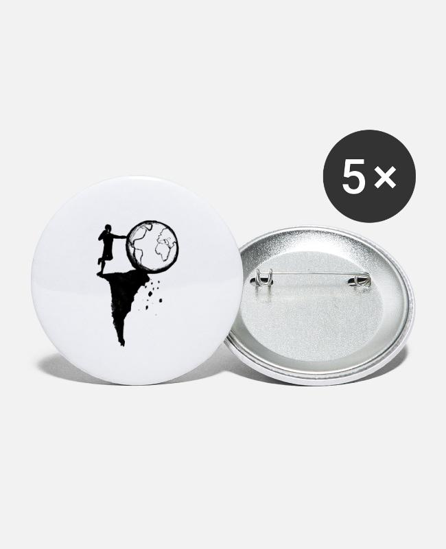 Nature Buttons - Earth - Small Buttons white
