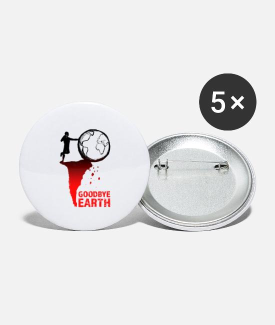 Nature Buttons - Goodbye Earth - Small Buttons white