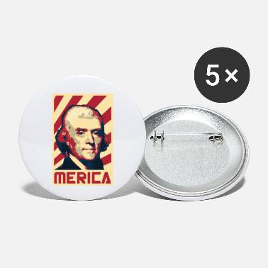 Propaganda Thomas Jefferson Merica Retro Propaganda - Small Buttons