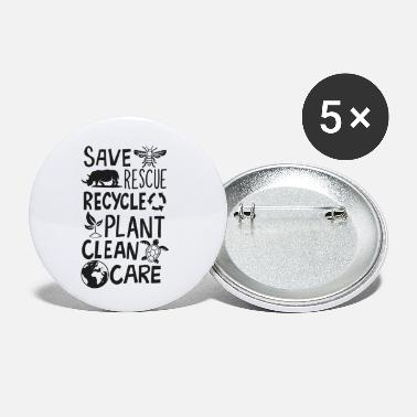 Ecologico Save Bees Rescue Rhinos Recycle Earth Day - Spille piccole