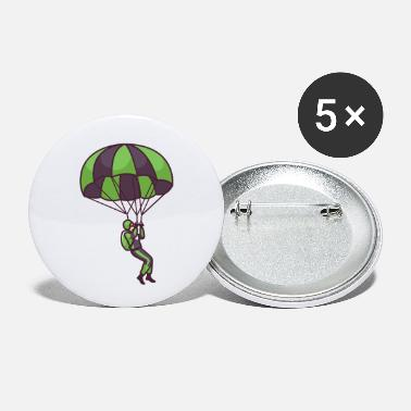 Grey Parachute Flying - Small Buttons