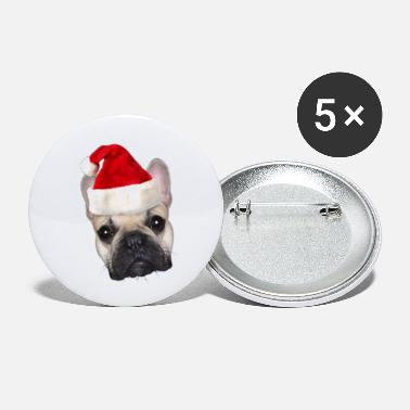 Christmas French Bulldog - Small Buttons