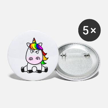 I Hate People Sweet Unicorn Evil Look - Small Buttons