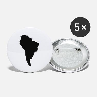 South America South America - Small Buttons
