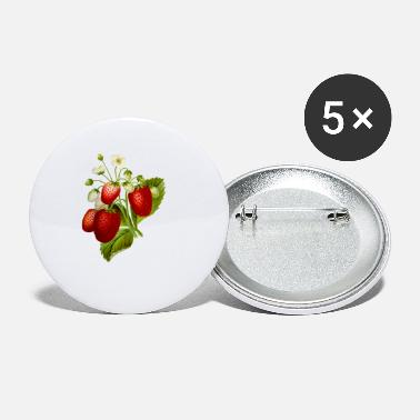 Illustration Strawberries Illustration - Small Buttons