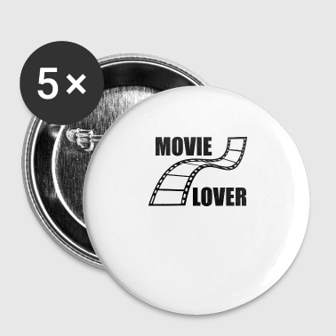 Film Film Fan Film amant cadeau - Badge petit 25 mm