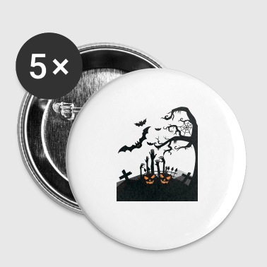 Snuggle Halloween Cemetery t-shirts design gift - Buttons small 25 mm
