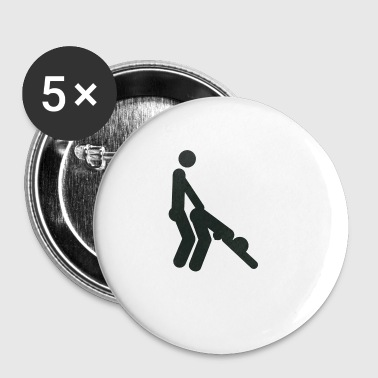 Doggystyle sex position (shotgun) - Buttons small 25 mm