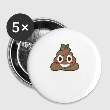 Poop Emoji Mistletoe Christmas Winter Holiday Xmas - Buttons klein 25 mm