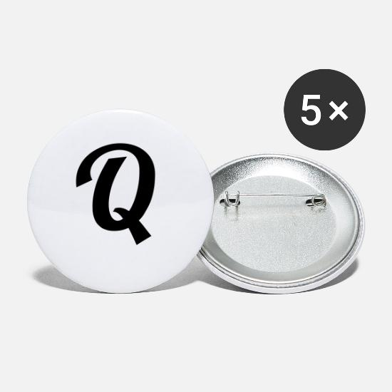 Birthday Buttons - Q - Small Buttons white