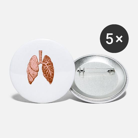 Gift Idea Buttons - Lung: O - Small Buttons white
