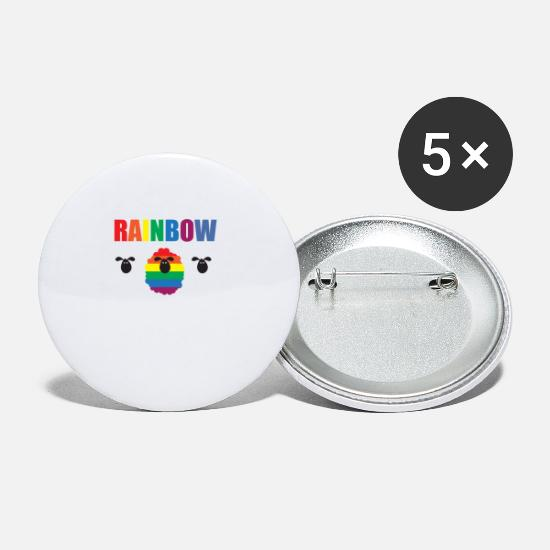 Rainbow Buttons - Gay - Rainbow - Sheep - Family - Gay Pride - Homo - Small Buttons white