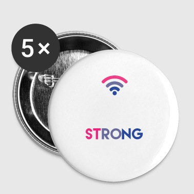 Bi-Fi - Bisexual - Gay Pride - Bi - Gift - Buttons small 25 mm