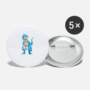 Easter Bunny Dinosaur T-Rex Easter Bunny Happy Easter Gift - Small Buttons