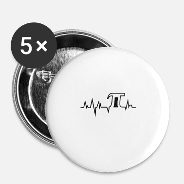 Pi Day impulsion Pi - Pi Day - noir - Badge petit 25 mm