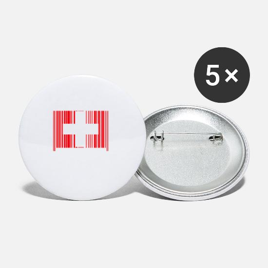 National Team Buttons - Born in Switzerland Switzerland national team - Small Buttons white