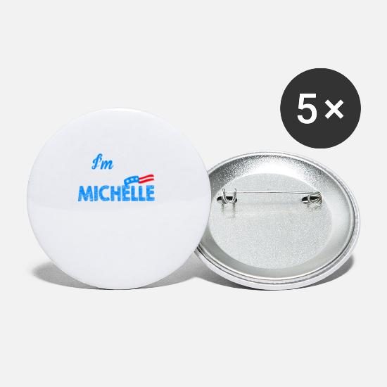Michelle Buttons - Michelle Obama President USA Election 2020 Gift - Small Buttons white